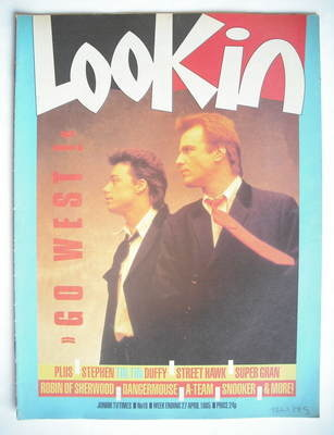 <!--1985-04-27-->Look In magazine - Go West cover (27 April 1985)