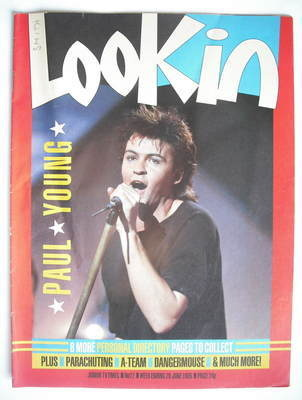 <!--1985-06-29-->Look In magazine - Paul Young cover (29 June 1985)
