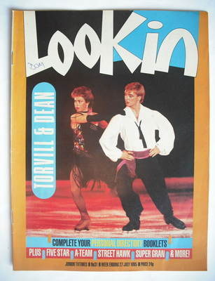 <!--1985-07-27-->Look In magazine - Jayne Torvill and Christopher Dean cove