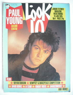 <!--1985-01-19-->Look In magazine - Paul Young cover (19 January 1985)