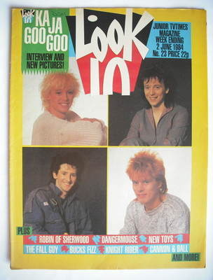 <!--1984-06-02-->Look In magazine - Kajagoogoo cover (2 June 1984)