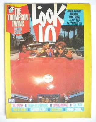 <!--1984-07-14-->Look In magazine - The Thompson Twins cover (14 July 1984)