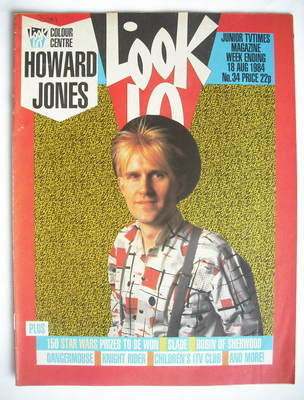 <!--1984-08-18-->Look In magazine - Howard Jones cover (18 August 1984)