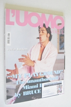 L'Uomo Vogue magazine - December 2008 - Javier Bardem cover