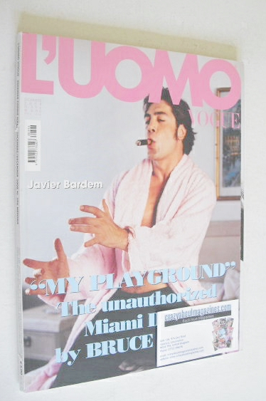 <!--2008-12-->L'Uomo Vogue magazine - December 2008 - Javier Bardem cover