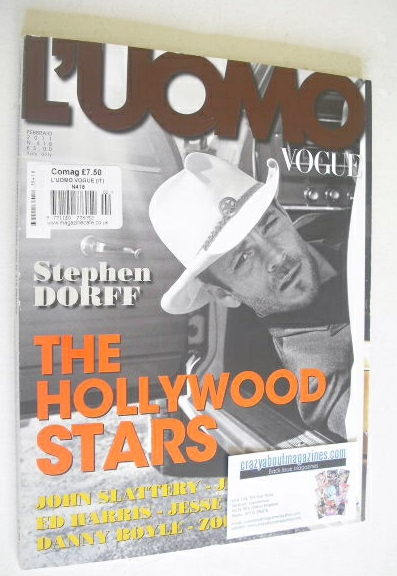<!--2011-02-->L'Uomo Vogue magazine - February 2011 - Stephen Dorff cover
