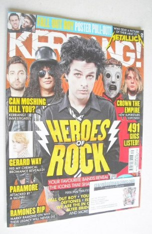<!--2014-07-26-->Kerrang magazine - Heroes of Rock cover (26 July 2014 - Is