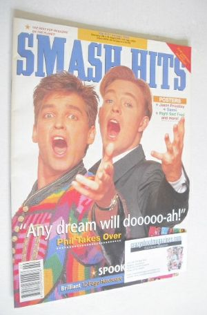 <!--1992-01-08-->Smash Hits magazine - Jason Donovan and Phillip Schofield