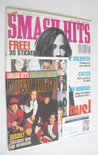 <!--1992-04-29-->Smash Hits magazine - Keanu Reeves cover (29 April - 12 Ma
