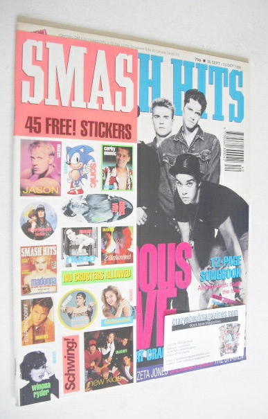 <!--1992-09-30-->Smash Hits magazine - Take That cover (30 September - 13 O