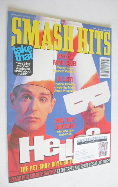 <!--1993-06-09-->Smash Hits magazine - The Pet Shop Boys cover (9-22 June 1