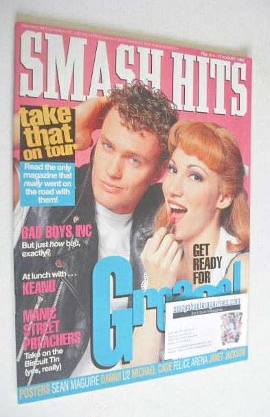 <!--1993-08-04-->Smash Hits magazine - Debbie Gibson and Craig McLachlan co