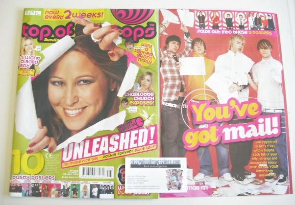 <!--2005-06-22-->Top Of The Pops magazine - Rachel Stevens cover (22 June-5
