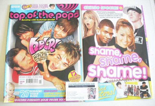 <!--2005-04-21-->Top Of The Pops magazine - McFly cover (21 April - 10 May
