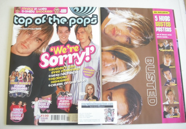 <!--2005-02-01-->Top Of The Pops magazine - Busted cover (1-28 February 200