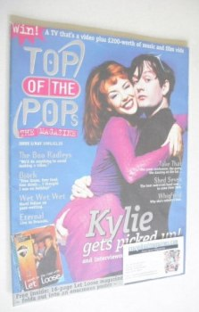 Top Of The Pops magazine - Jarvis Cocker and Kylie Minogue cover (May 1995)