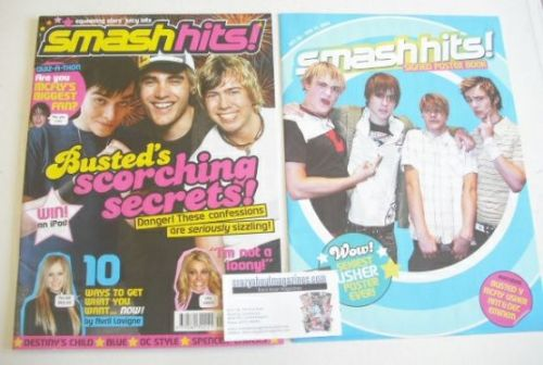 <!--2004-10-29-->Smash Hits magazine - Busted cover (29 October - 11 Novemb
