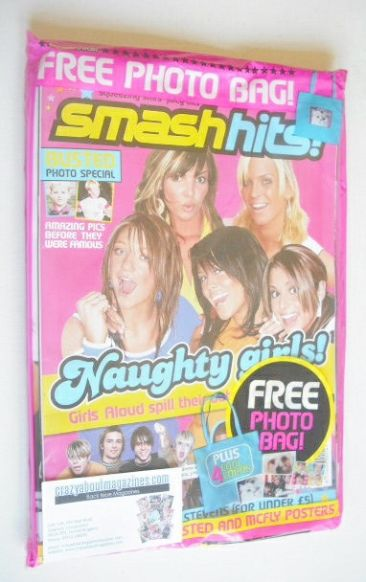 <!--2004-09-17-->Smash Hits magazine - Girls Aloud cover (17-30 September 2