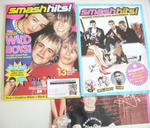 <!--2004-06-25-->Smash Hits magazine - McFly cover (25 June - 8 July 2004)