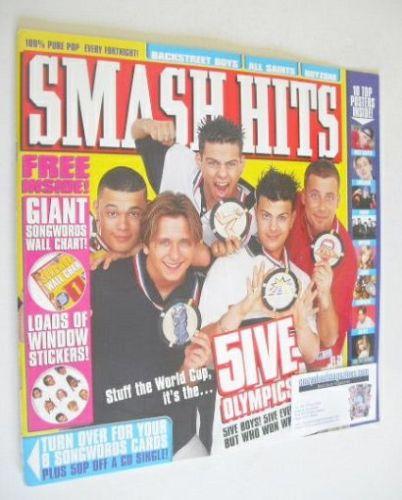 <!--1998-06-03-->Smash Hits magazine - Five cover (3 June 1998)