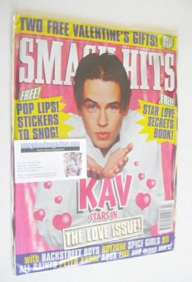 <!--1998-02-11-->Smash Hits magazine - Kavana cover (11-24 February 1998)