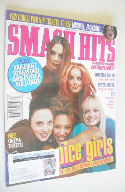 <!--1997-04-23-->Smash Hits magazine - Spice Girls cover (23 April - 6 May