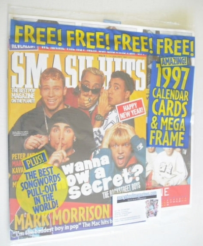 <!--1997-01-14-->Smash Hits magazine - Backstreet Boys cover (1-14 January