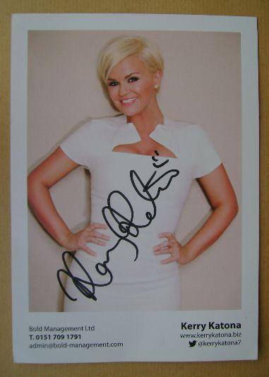 Kerry Katona autograph