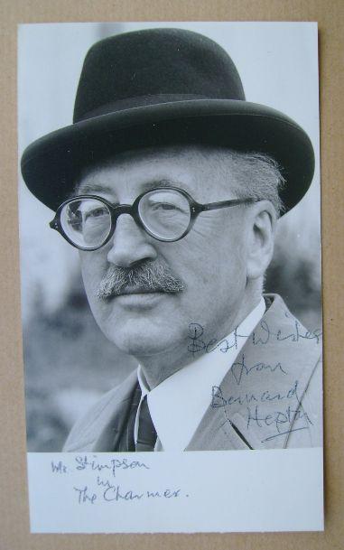 Bernard Hepton autograph