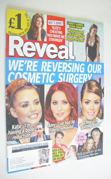 Reveal magazine - Cosmetic Surgery cover (10-16 May 2014