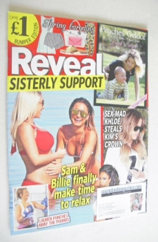 Reveal magazine - Sam and Billie Faiers cover (19-25 April 2014)