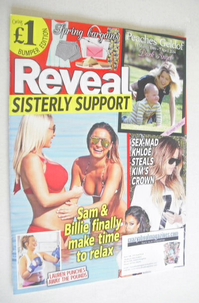 <!--2014-04-19-->Reveal magazine - Sam and Billie Faiers cover (19-25 April