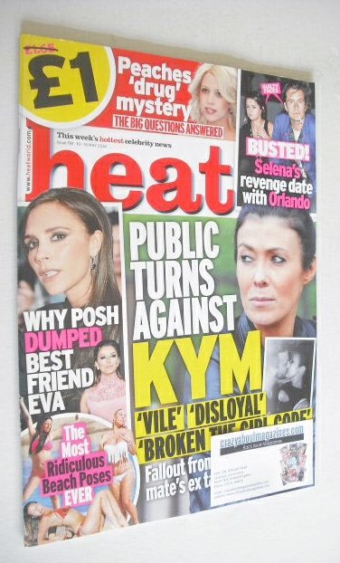 <!--2014-05-10-->Heat magazine - Kym Marsh cover (10-16 May 2014)
