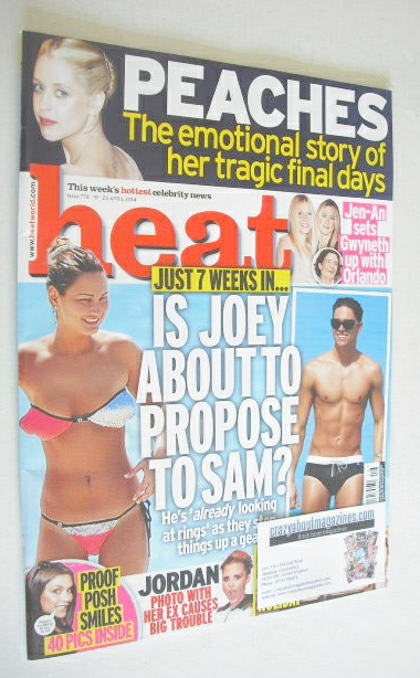 <!--2014-04-19-->Heat magazine - Joey Essex and Sam Faiers cover (19-25 Apr