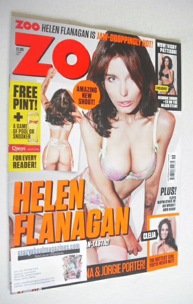 <!--2014-05-02-->Zoo magazine - Helen Flanagan cover (2-8 May 2014)