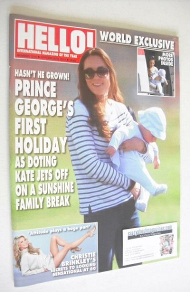 <!--2014-02-10-->Hello! magazine - Prince George and Kate cover (10 Februar