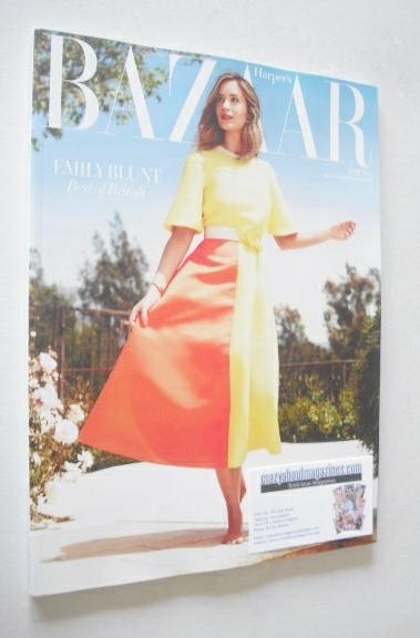 <!--2014-07-->Harper's Bazaar magazine - July 2014 - Emily Blunt cover (Sub
