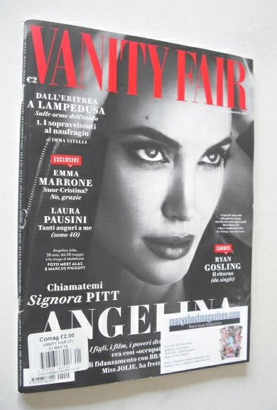 <!--2014-05-21-->Italian Vanity Fair magazine - Angelina Jolie cover (21 Ma