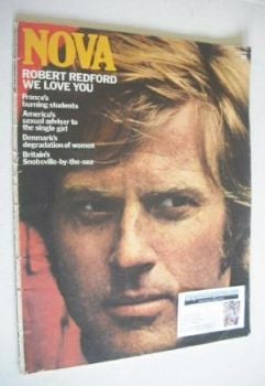 NOVA magazine - July 1970 - Robert Redford cover