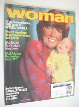 Woman magazine - Cilla Black cover (31 January 1981)