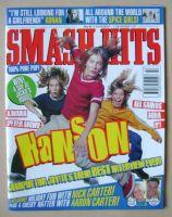 <!--1997-11-19-->Smash Hits magazine - Hanson cover (19 November - 2 December 1997)