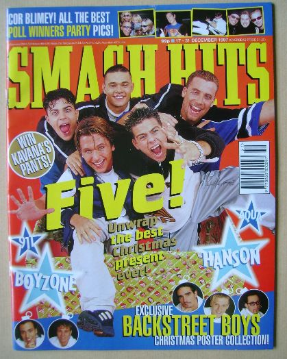 <!--1997-12-17-->Smash Hits magazine - Five cover (17-31 December 1997)