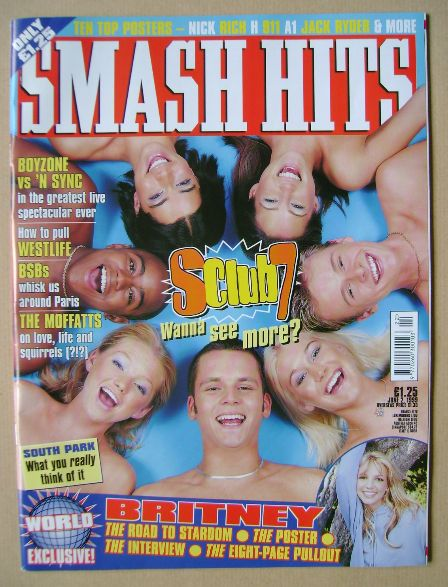 <!--1999-06-02-->Smash Hits magazine - S Club 7 cover (2 June 1999)