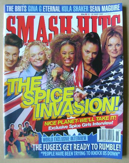 <!--1997-03-12-->Smash Hits magazine - Spice Girls cover (12-25 March 1997)