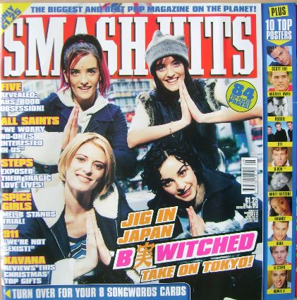 <!--1998-12-02-->Smash Hits magazine - B*Witched cover (2 December 1998)