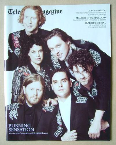 <!--2014-06-21-->Telegraph magazine - Arcade Fire cover (21 June 2014)