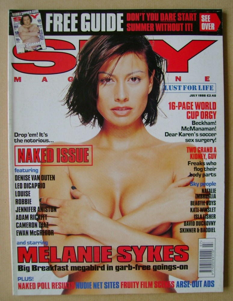 <!--1998-07-->Sky magazine - Melanie Sykes cover (July 1998)