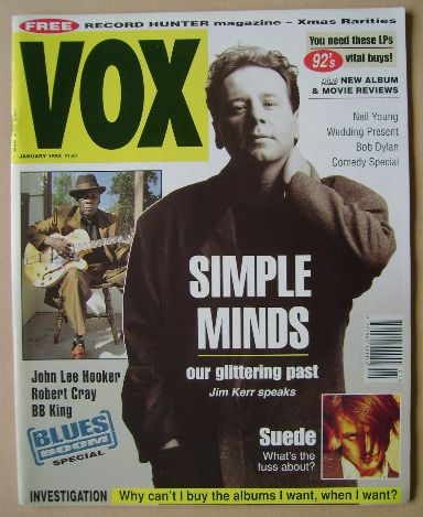 <!--1993-01-->VOX magazine - Jim Kerr cover (January 1993 - Issue 28)