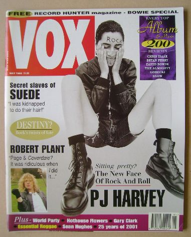 <!--1993-05-->VOX magazine - PJ Harvey cover (May 1993 - Issue 32)