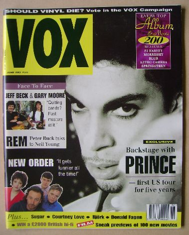 <!--1993-06-->VOX magazine - Prince cover (June 1993 - Issue 33)